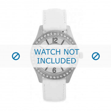 Klockarmband Guess W0351L1 Läder Vit 18mm