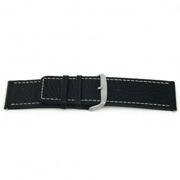 Klockarmband Universell J125 Läder Svart 26mm