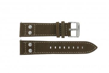 Klockarmband H820 Läder Brun 22mm
