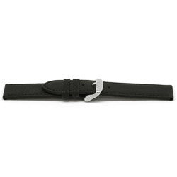 Klockarmband Läder svart 16mm EX-E129