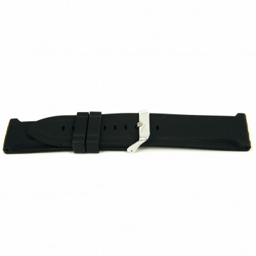 Klockarmband Gummi 26mm Svart EX K63 26 2 26