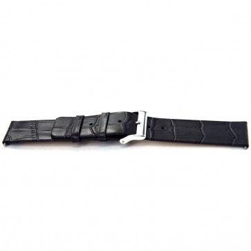 Klockarmband Universell I810 Läder Grå 24mm