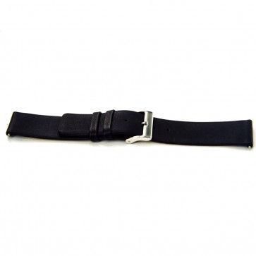 Klockarmband i skinn Buffekalv svart 24mm J-53