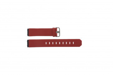 Jacob Jensen Klockarmband Äkta Läder rött 800 serie 17mm