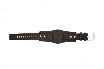 Fossil klockarmband JR1068 Läder Mörk brun 20mm
