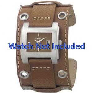 Fossil klockarmband JR8149 Läder Brun 18mm + default sömmar