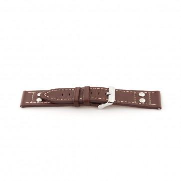 Klockarmband Universell H365 Läder Brun 22mm