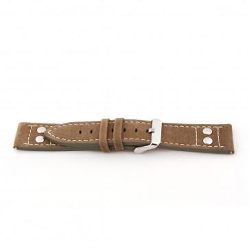 Klockarmband Universell I820 Läder Brun 24mm
