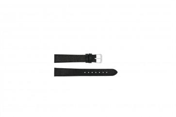 Klockarmband Läder + krokodil tryck 14mm Svart - PVK-177.01