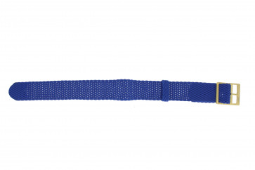 Klockarmband Universell PRLN.18.LB Nylon/perlon Blå 18mm
