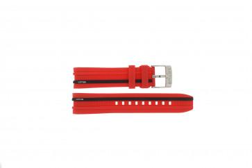 Klockarmband Lotus 15881/2 Gummi Röd 22mm