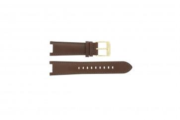 Michael Kors klockarmband MK2249 Läder Brun 20mm + sömmar brun