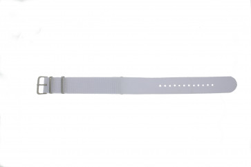 Klockarmband Universell EX-WH34 Textil Vit 22mm