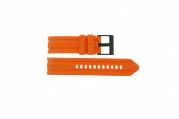 Klockarmband Nautica A17586G Gummi Apelsin 24mm
