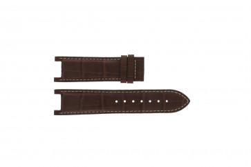 Guess klockarmband GC41501G / 145003G1 Läder Brun 21mm + sömmar vitt