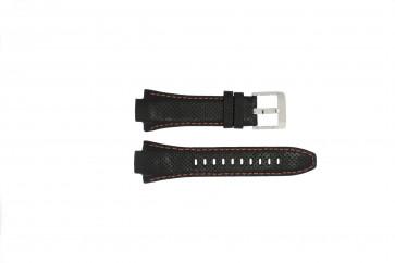 Klockarmband Seiko 7L22-0AE0 / SNL017P1 / 4KG8JZ /SNL021P9 Läder Svart 15mm