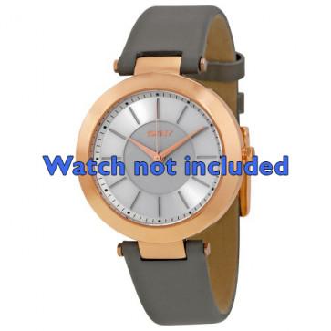 Klockarmband DKNY NY2296 Läder Grå 10mm