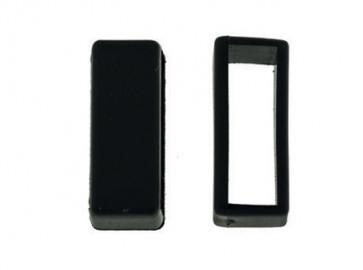 Watch strap keeper rubber black 22mm