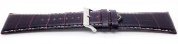Lorus klockarmband VD57-X023 Läder Brun 28mm + sömmar vitt