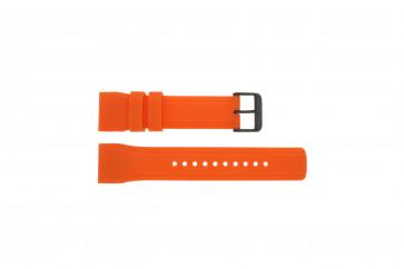 Klockarmband Pulsar W861-X006 / PQ2013X1 / PP102X Gummi Apelsin 24mm