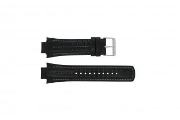 Klockarmband Pulsar YM62-X236 / PF3971X1 / PH083X Läder Svart 15mm