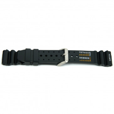 Klockarmband XF13 / Citizen Gummi Svart 18mm