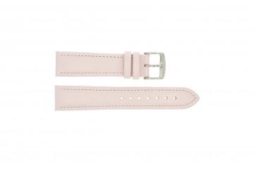 Klockarmband i äkta läder rosa 20mm 283