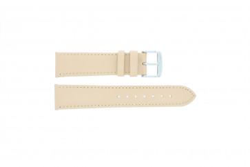 Klockarmband Äkta Läder krämfärgad / beige 24mm 283