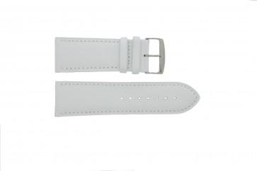 Klockarmband i äkta läder vitt 32mm