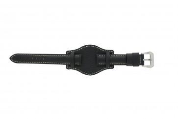Klockarmband Universell 386.1 Läder Svart 20mm