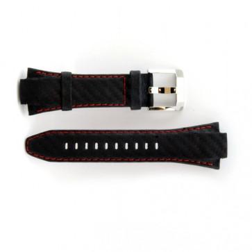 Seiko Klockarmband Äkta Läder med rött söm 7T62-0ED0