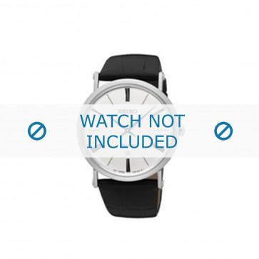 Klockarmband Seiko 7N39-0CA0 Läder Svart 24mm