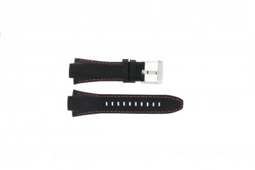 Klockarmband Seiko 7T62-0ED0 / H023 00C0 / SNJ007P Läder Svart 15mm