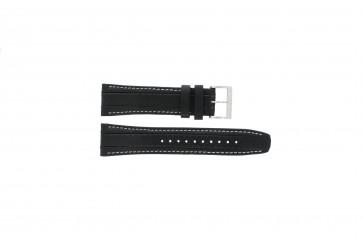 Klockarmband Seiko 7T62-0HL0 / SNAB55P1 Läder Svart 24mm
