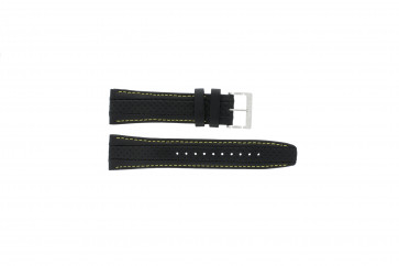 Klockarmband Seiko 7T62-0HL0 / SNAB57P1 Läder Svart 24mm