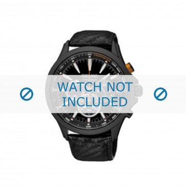 Klockarmband Seiko SSC499P1 / V175 0DM0 Läder Svart 22mm