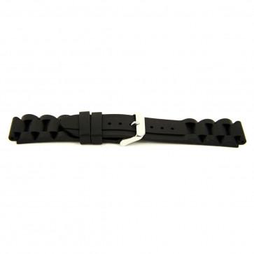 Klockarmband Gummi 24mm Svart EX K63 26 1 24