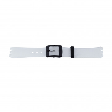 Klockarmband Swatch (alt.) 51.00 Plast Transparent 17mm