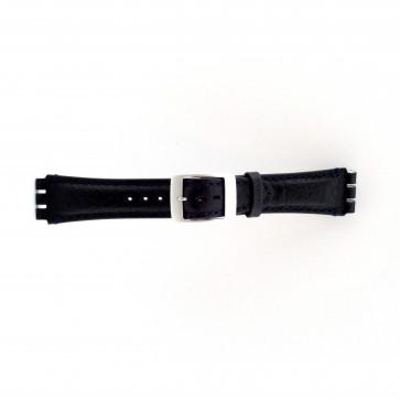 Klockarmband passande Swatch mörkblått 19mm PVK-SC14.05