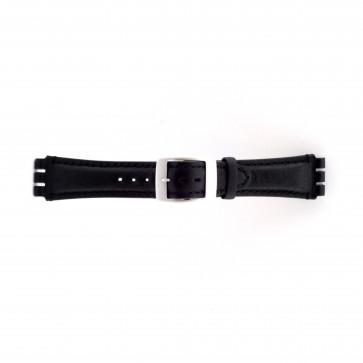 Klockarmband Swatch SC14.01 Läder Svart 19mm