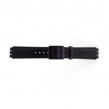 Klockarmband Swatch SC11.01 Läder Svart 17mm