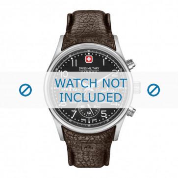 Swiss Military Hanowa klockarmband 06-4278.04.007 Läder Brun + sömmar brun