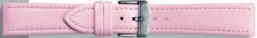 Klockarmband i äkta läder rosa 22mm 283
