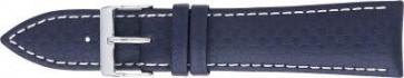 Karbonrem mörkblå med vit söm 24mm PVK-321