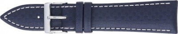 Karbonrem mörkblå med vit söm 24mm 321