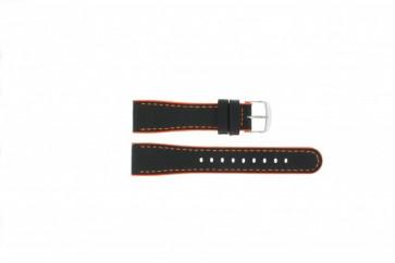 Timex klockarmband T2N428 Läder Svart 22mm