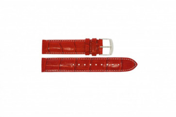 Timex klockarmband T2M709 Läder Rött 18mm