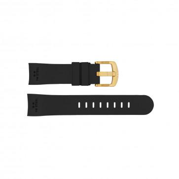 Klockarmband TW Steel TWB101 Silikon Svart 22mm