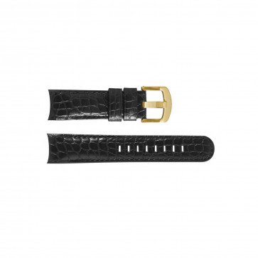 TW Steel klockarmband TWB129 Läder Svart 23mm + sömmar svart