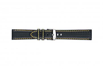 Morellato klockarmband Biking U3586977897CR18 / PMU897BIKING18 Kol Svart 18mm + sömmar gul